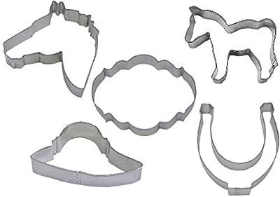 5 Piece Kentucky Derby Horse Cookie Cutter Set