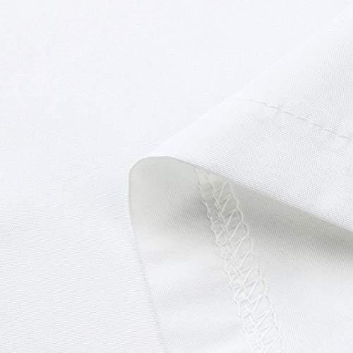 Top Sporche Camicia Maglia Maglietta Donna Lunga Sweatshirt Camicetta donne Shirt Casual yesmile Sciolto Daily Bianco Camicetta Tops Pocket Manica T zqPCcC