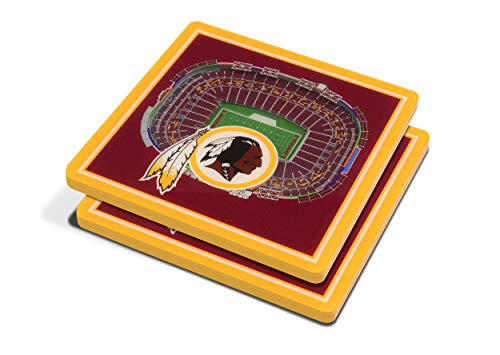 NFL Washington Redskins 3D StadiumViews Coasters ()