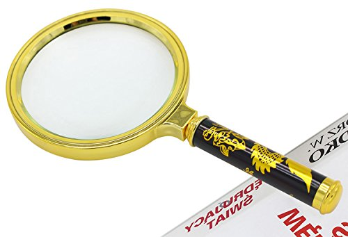 90mm Handheld 5X Loupe Magnifier Magnifying Glass Lens Perfect Viewing 1PC ()