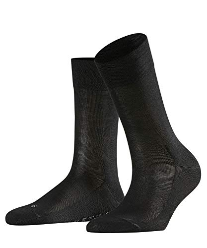 Falke Women's Sensitive Malaga Sock-96% Cotton-Pressure Free Cuff, Black, 39-42 (US8-10.5)