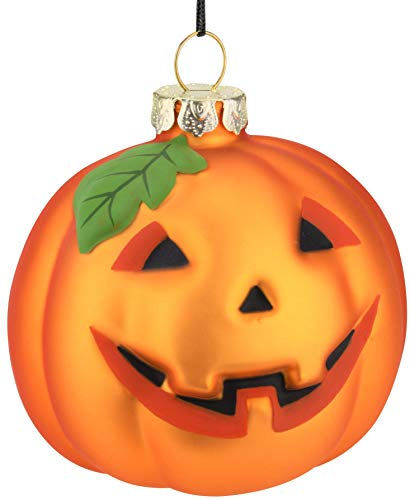 Best Halloween Pumpkins (Tree Buddees Jack-O-Lantern Pumpkin Decoration Blown Glass Ornament Halloween, Thanksgiving, Christmas)