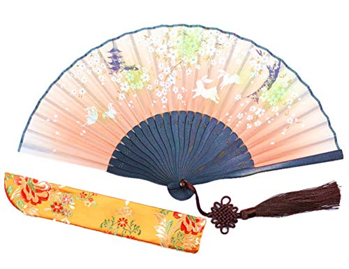 Wise Bird Charming Woman Lady Handmade Bamboo Silk 8