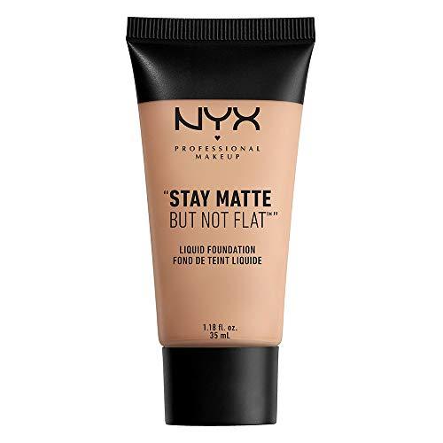 NYX PROFESSIONAL MAKEUP Stay Matte but not Flat Liquid Foundation, Medium, 1.18 Fluid Ounce
