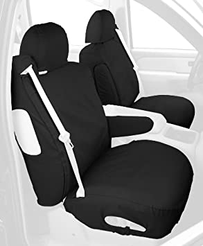 Charcoal Black SS8365PCCH Polycotton Fabric Covercraft Custom-Fit Rear-Second Seat Bench SeatSaver Seat Covers