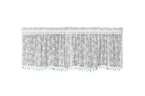Heritage Lace Starfish Valance with Trim, 45 by 15-Inch,