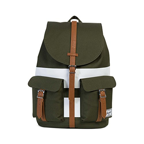 Herschel Leather White Stripe Synthetic Small Rugby Night Dawson Tan Tan X Peacoat Forest Synthetic Leather fAqFfrgw