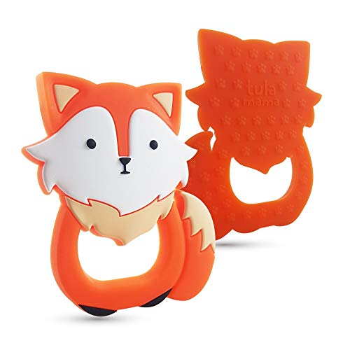 Teething Toys and Teethers by Tulamama. Bendable & Freezer Friendly. Highly Recommended by Moms. 100% Silicone (Similar to Nipples & Pacifiers), BPA & Phthalates Free, FDA Compliant. Fox