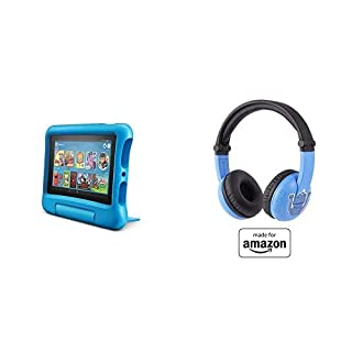 Fire 7 Kids Tablet 16GB Blue with Playtime (Ages 3-7) Bluetooth Headset