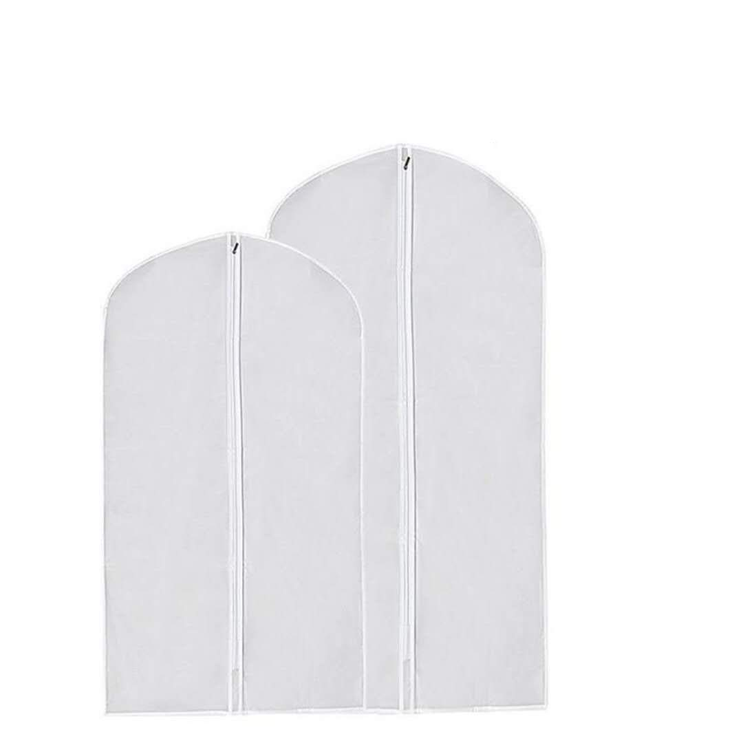 Garment Bag, Suit Protector Dust Cover Moth Proof for Clothes Storage Suits 23.62x51.18 inch, 2 Pack SHENHAI