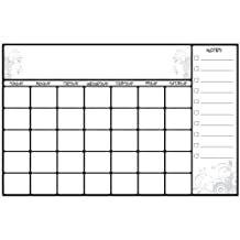 RoomMates RMK2477SLM Scroll Dry Erase Calendar Peel and Stick Wall Decals, 1-Pack