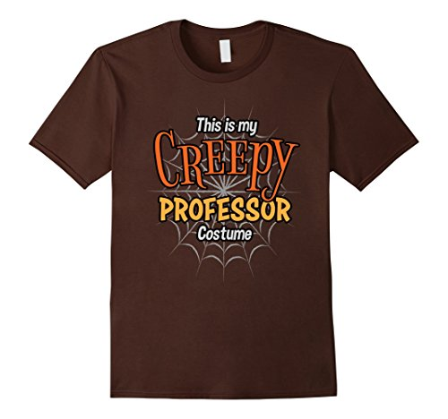 Mens Creepy Professor Shirt Easy Halloween 2017 Costume T-Shirt Large Brown