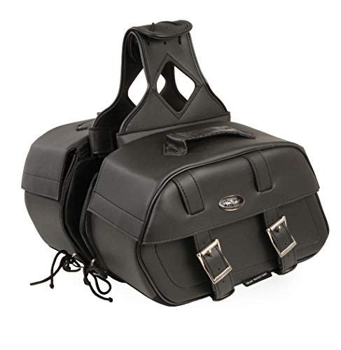 - Milwaukee Performance SH611ZB Black Zip-Off PVC Throw Over Rounded Saddle Bag