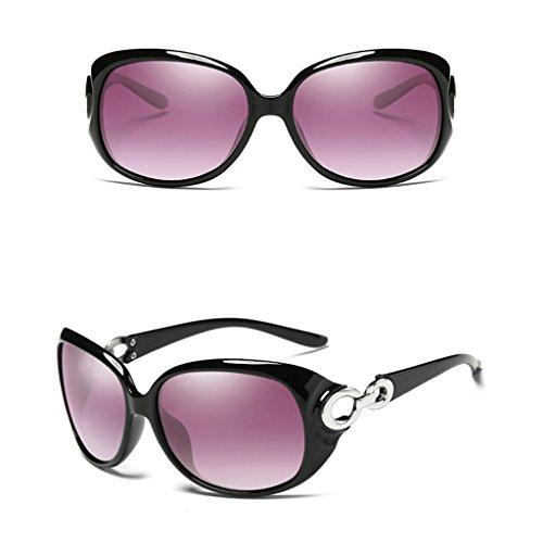 Couleur soleil Frame Ms de Mode Big Lunettes féminine Café polarisées de soleil Driver Lunettes Lunettes Driving Noir Mirror couleur qZgp4x5n5