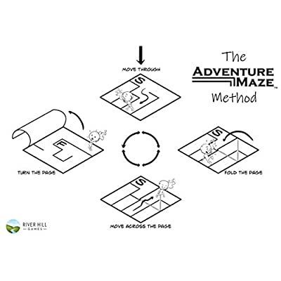 Adventure Maze: Parallel Times, Time Travelling Themed Paperback Folding Puzzle Book, w/ 16 Stickers & Short Story…: Toys & Games