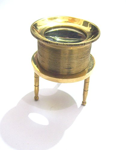 NAUTICAL Brass Chart Map Glass Magnifying Desk Lens Magnifier replica