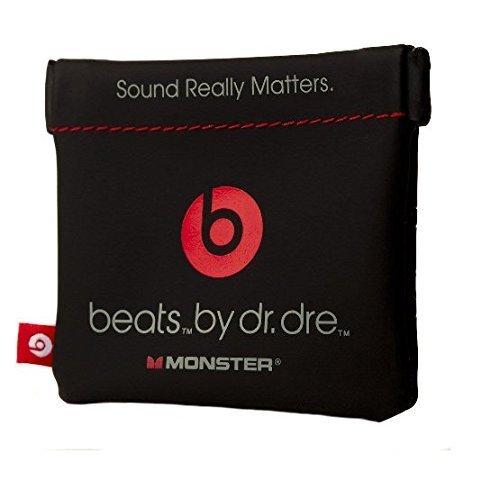 In-Ear Beats Earphone Black Carrying Pouch for Dr.Dre, iBeats, Tour, Heart Beats