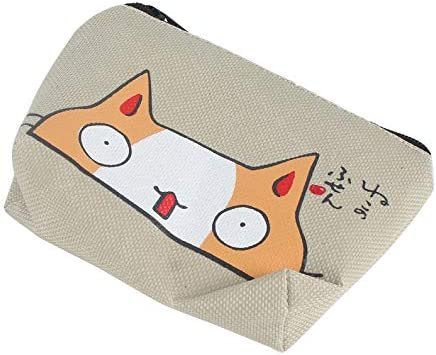 mini portamonete con cerniera Apricot UkYukiko portamonete creativo con gatto - ukYukiko Marrone