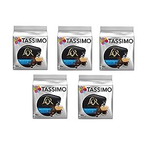 TASSIMO L'Or Café Decaffeinato – 5 paquetes de 16 cápsulas: Total 80 unidades 41C4 KXls 2BL