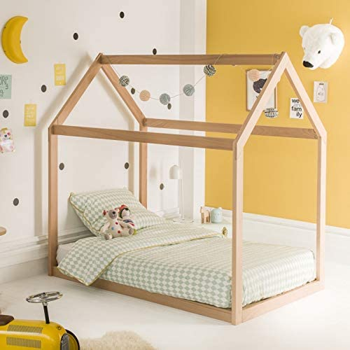 Alfred & Compagnie – Cama cabaña 90 x 140 Extensible Natural ...
