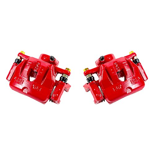 CCK01541 [ 2 ] FRONT Performance Grade Red Powder Coated Semi-Loaded Caliper Assembly Pair Set ()