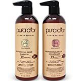 PURA D'OR Professional Grade Anti-Hair Thinning 2X Concentrated Actives Shampoo & Conditioner, Sulfate