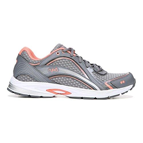 (Ryka Women's Sky Walking Shoe Grey/Coral 9.5 M US)