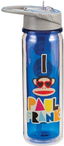 Vandor 46010 Paul Frank 18 oz Tritan Water Bottle, Multicolor