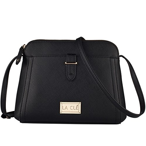 Cl%C3%A9 005Grainy Structured Crossbody Shoulder