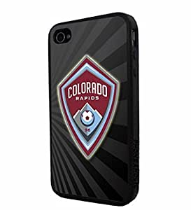Soccer MLS Colorado Rapids FC LOGO SOCCER FOOTBALL, Cool iPhone 4/4s / 4s Smartphone iphone Case Cover Collector iphone TPU Rubber Case Black