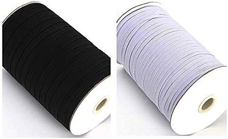 1 Meter 7mm Black Stretch Elastic Flat Elastic Waist Band Cuffs Woven Fast Dispatch 1//4 Inch
