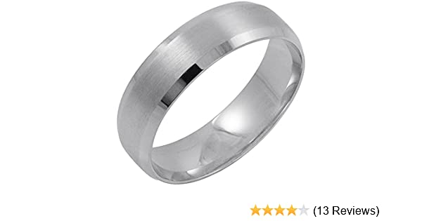 Pics Of Wedding Ring.Men S 14k White Gold 6mm Comfort Fit Beveled Edge Wedding Band Available Ring Sizes 8 12 1 2