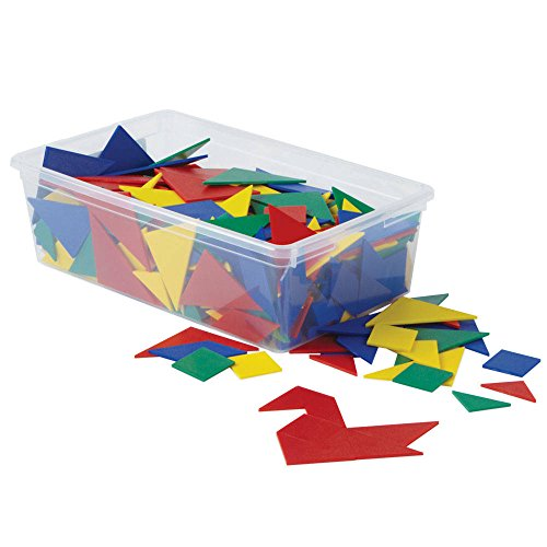 ETA hand2mind 86836 Foam Tangrams Classroom Kit, Set of 32 (Plastic Tangram)
