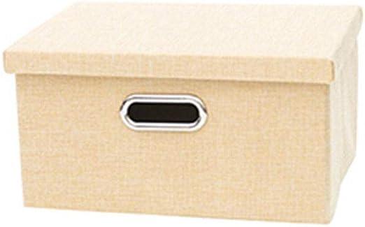 MJB Caja de Almacenamiento de Tela con Tapa, Caja de Almacenamiento de Juguetes, Caja de Almacenamiento de Juguetes (Color : Beige, tamaño : S): Amazon.es: Hogar