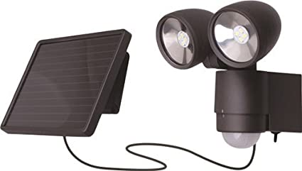 Voltman vom530505 Proyector Solar LED 2 cabezas con detector de movimiento