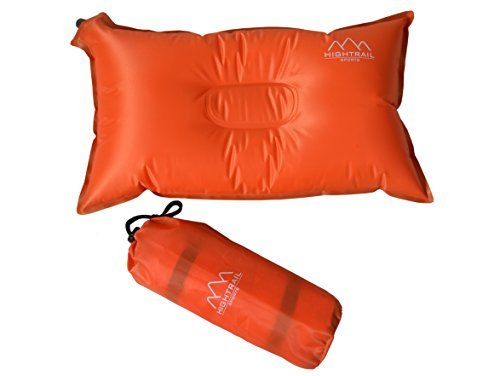 Self Inflating Camping Pillow/Travel Pillow - Essential Outdoor Sports Accessory For Hiking/Backpacking/ Picnics - Great Lumbar/Neck Support - Lightweight/Compressible - Take Comfort Wherever You Go by Tools Supply