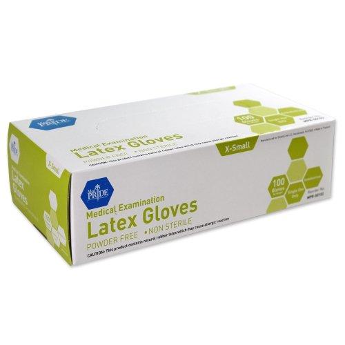 Medpride - MPR-50102 - Latex Exam Gloves - XS - N/S - Powder Free