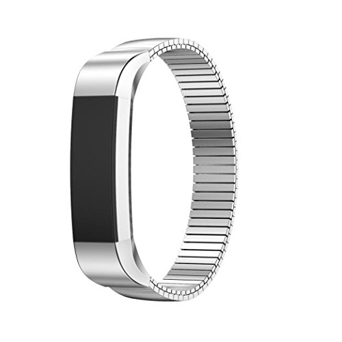 Livoty Softness is moderate,Elastic Stainless Steel Bracelet Watch Band Strap For Fitbit Alta HR Smart Watch (Sliver) Ladies Blaze Mesh Jacket