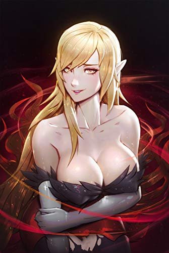 AniMax Game Anime Printed on Canvas,Framed and Stretched, Game Home Decor, Living Room Bed Room Decor Medium 16x23/ Large 23x35-KISS-SHOT -