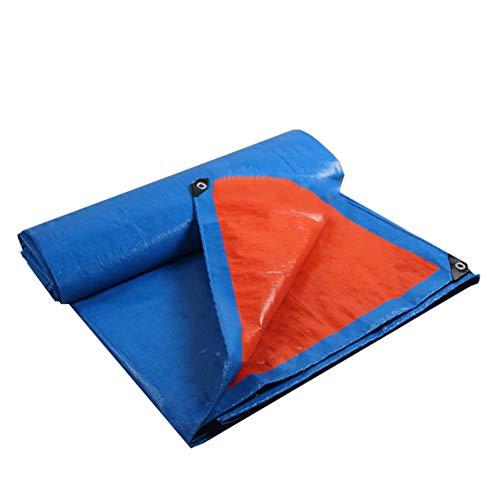 拒否歩道待ってCHAOXIANG ターポリン サンシェード 防雨 軽量 アウトドア シェード布 PE 厚さ0.28mm、 15サイズ、 カスタマイズ可能な (色 : Orange blue, サイズ さいず : 3.8x5.8m)