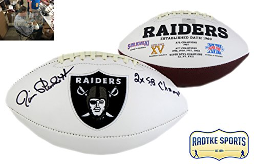 phed/Signed Oakland Raiders Embroidered NFL Football with