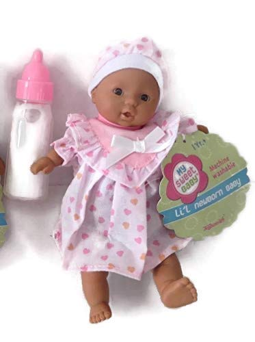 Toysmith Mini Baby Doll African American Outfits Will Vary Plus 1 Magic Disappearing Milk Baby Doll Bottle Ages 3yrs +