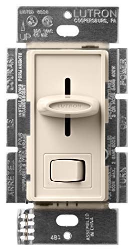 Lutron S-600P-LA 600-Watt Skylark Single-Pole Dimmer, Light Almond