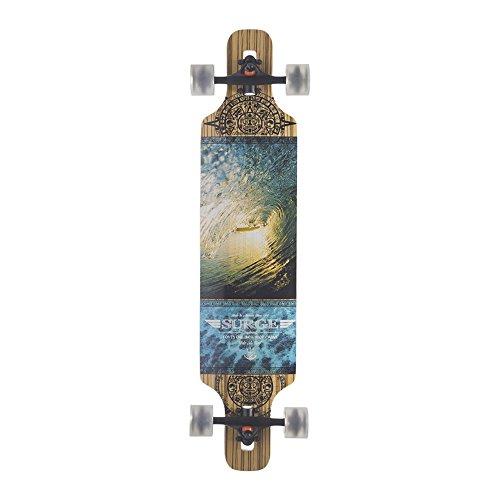 BACKFIRE Drop Through Longboard Complete Lightweight 39 8.625inch Professional longboards (Yellow) (Vortex Wheels Skateboard)