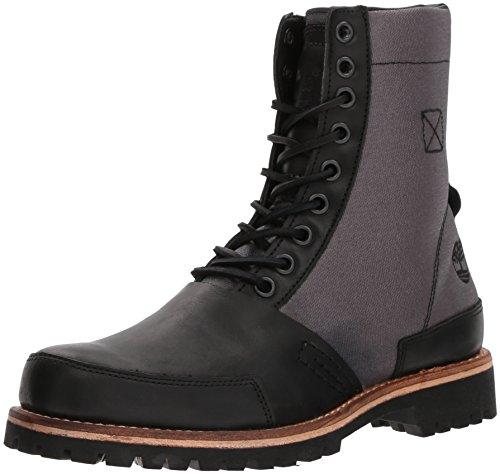 Timberland Mens Ltd Leather Fabric Boot Black