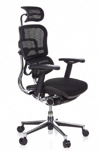 Ergohuman Bürostuhl mit Netz-Stoff, schwarz - 2
