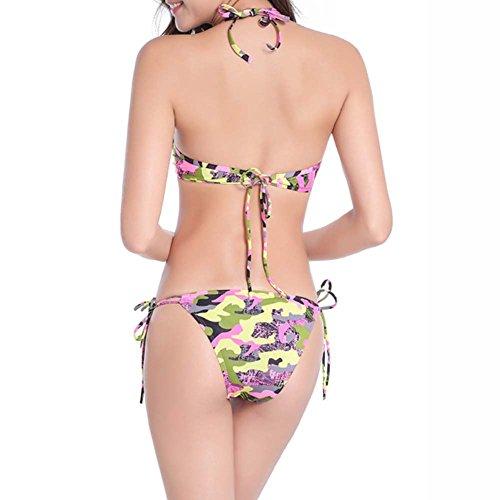 Set Colorful Tassel Swimwear Women Xinvision Swimsuit Ladies Beachsuit Soft Elastic for Beach Classic Padded Bikini Pink Summer 1nz1YIxg