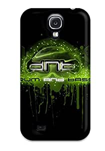 Tpu Case Cover For Galaxy S4 Strong Protect Case - Drum And Bass Design by lolosakes