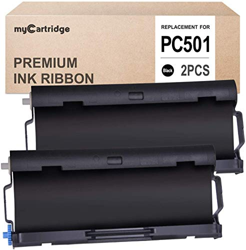 myCartridge 2 Pack PC501 Compatible with Brother Fax Cartridge for use in Brother FAX 575 Fax Printers