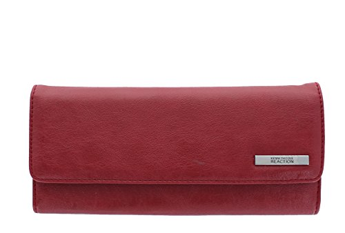 Kenneth Cole Tri Fold Wallet (Kenneth Cole Reaction Womens Saffiano Clutch Wallet Trifold W Coin Purse (SUNSET))